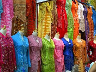 Stall at Geylang Serai Selling Traditional Malay Costumes