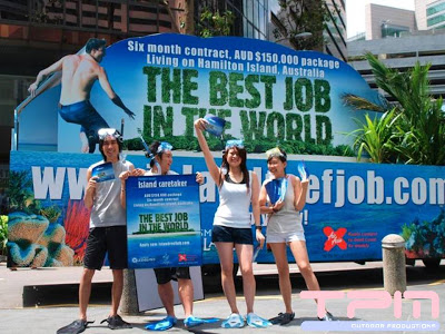 Best Job in the World-Mobile Billboard Shenton Way CBD Singapore 2