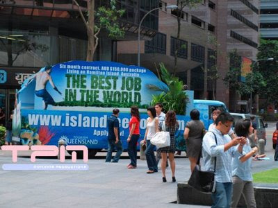 Best Job in the World-Mobile Billboard Shenton Way CBD Singapore 3