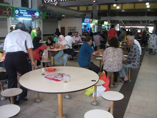 Joo Chiat food center Singapore police force table top display