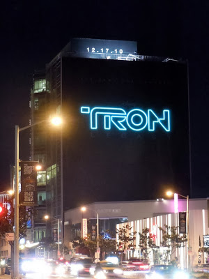 Outdoor poster Tron legacy United States night