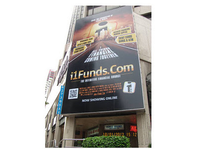 QR Technology on Billboard Havelock IT Finance Advertisement iFunds (2)