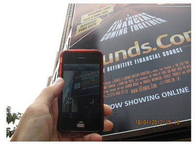 QR Technology on Billboard Havelock IT Finance Advertisement iFunds (3)