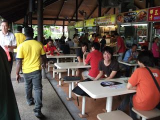 Sembawang hill food center Singapore police force table top display