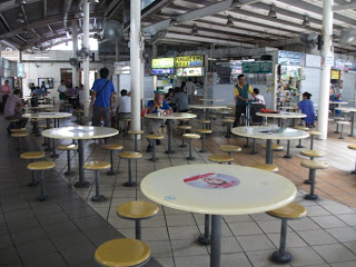 Serangoon food center Singapore police force table top display