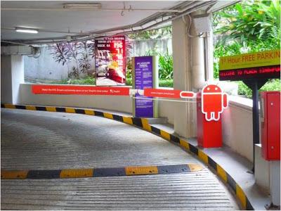 Singtel Carpark Boomgates Display at Plaza Singapura Singapore