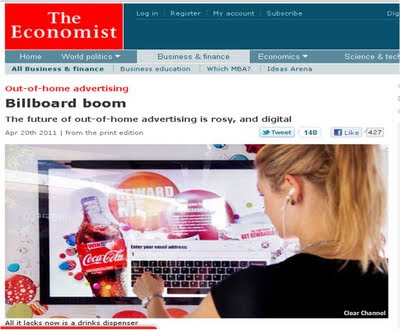 The Economist Billboard Boom