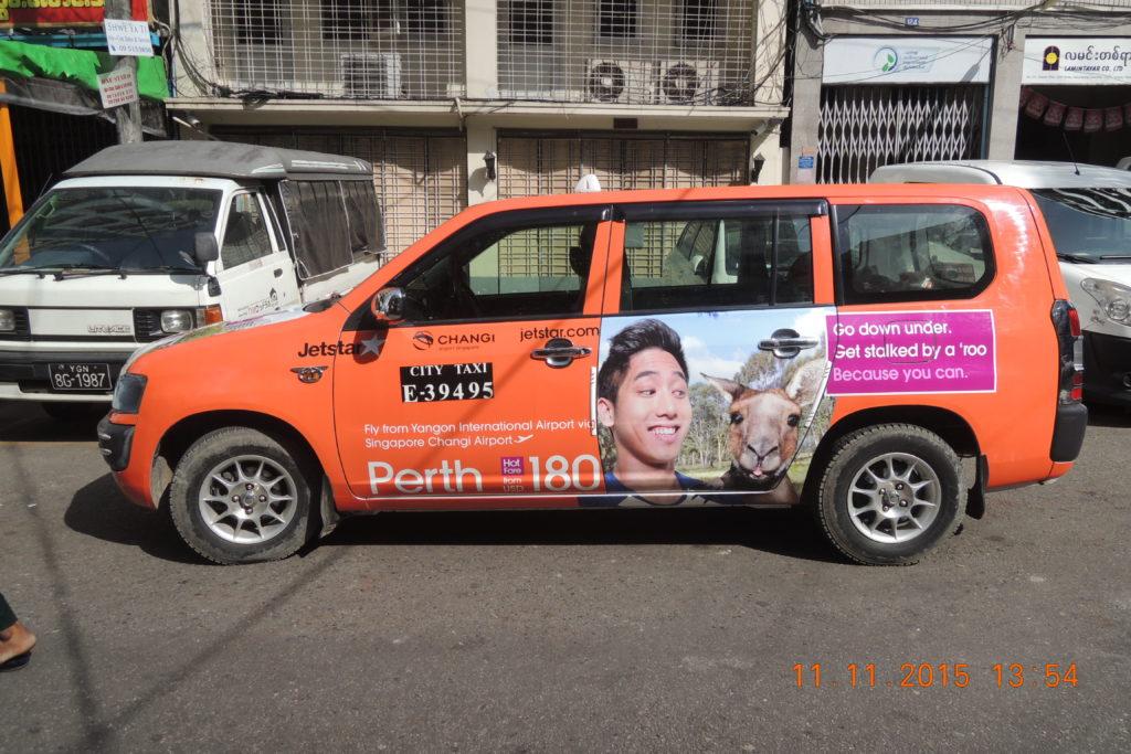 Taxi Media in Yangon, Myanmar
