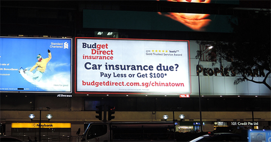 Budget Direct Insurance at PPC Night Photo