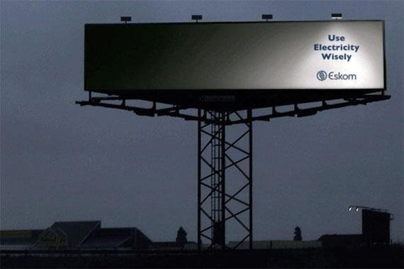 Eskom Use Electricity Wisely Billboard Ad