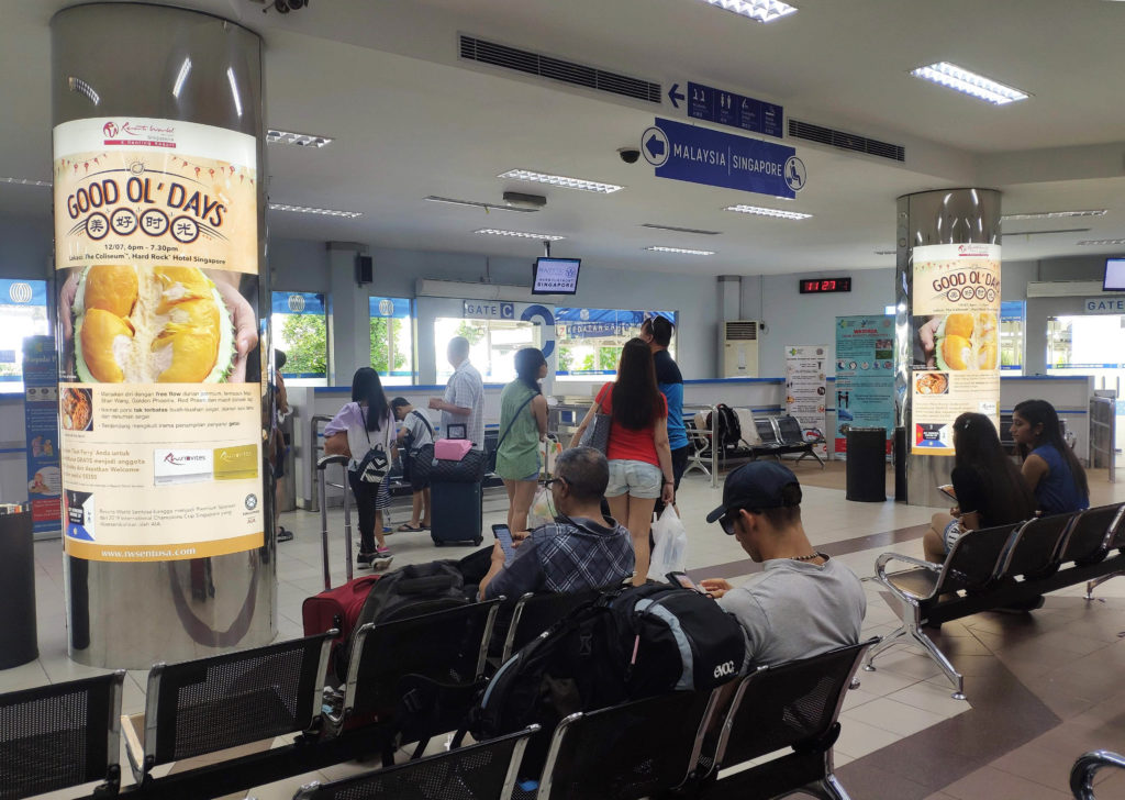 Durian Season Pillar Display for RWS at Batam Ferry Center Terminal