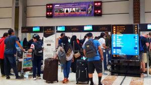 F1 screen at Soekarno Hatta International Airport Jakarta