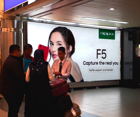 An Oppo advertisement at Hang Nadim International Airport, Batam, Indonesia