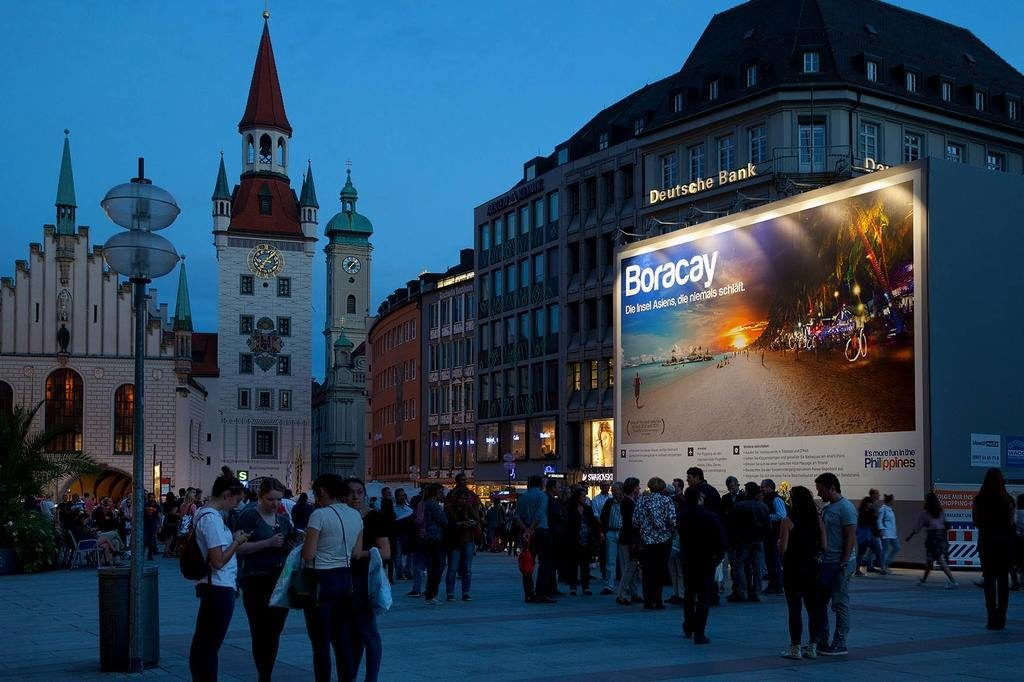 The Philippines' tourism campaign finds itself at Marienplatz in Munich, Germany