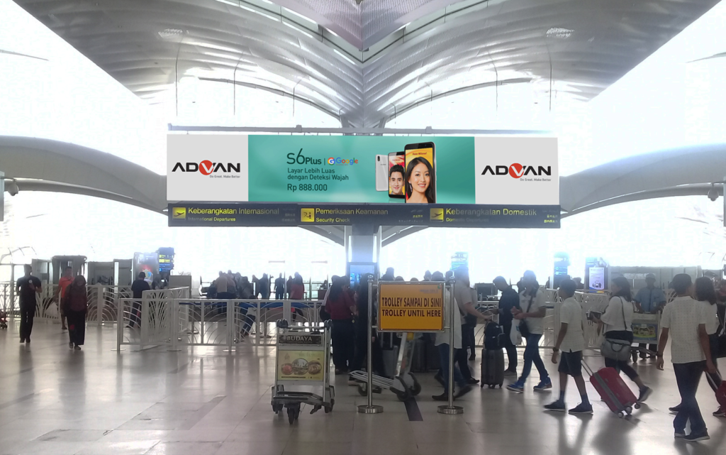 Advan billboard at Kualanamu International Airport