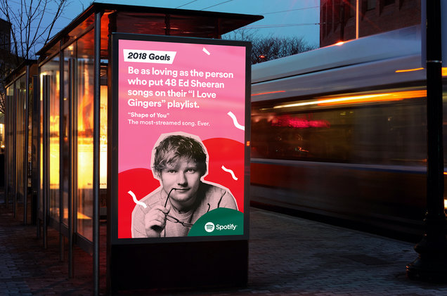 Year-end billboard advertising by Spotify