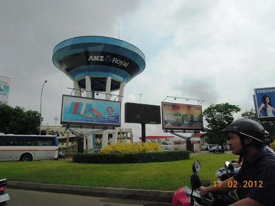 ANZ Bank Outdoor Advertising Unique Billboard Cambodia Phnom Penh 2012