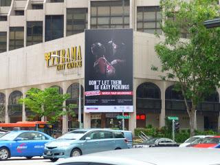Furama center Singapore police force lighbox billboard