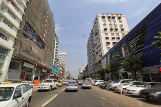 HTC Wall Facade Yangon Streets