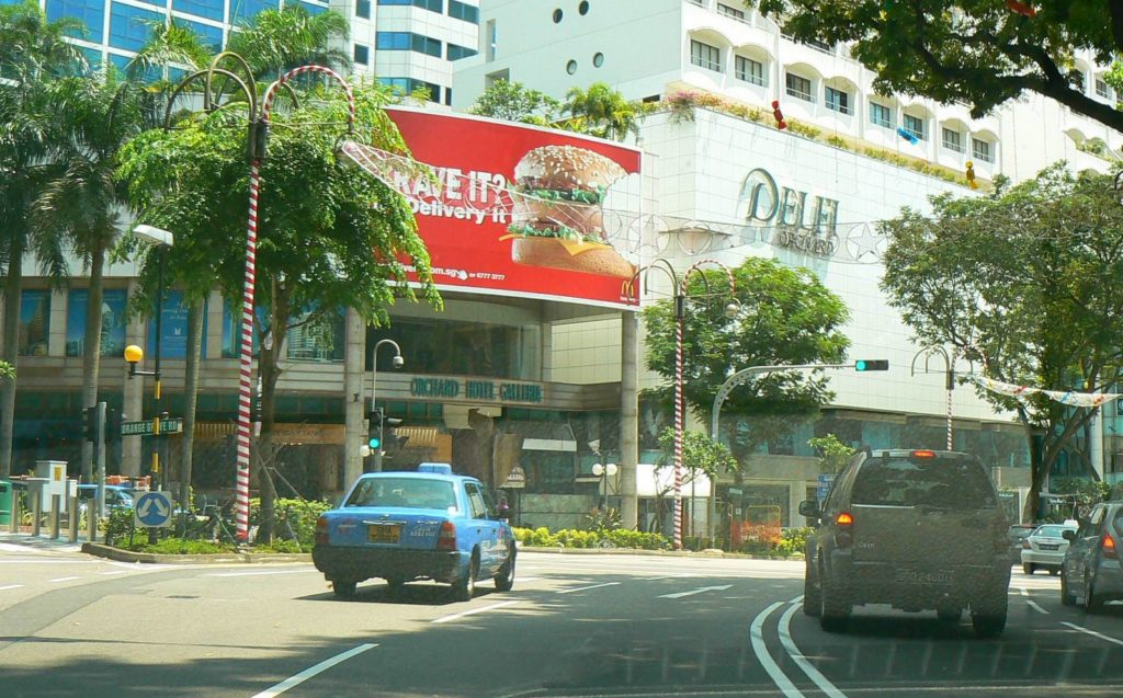 Hungry MacDonalds Billboard Outdoor Advertising Singapore Orchard Hotel