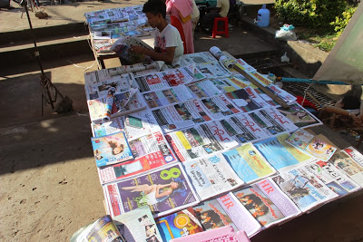 Myanmar Newspapers Journals and Dailies Stand 2013 Nov 30