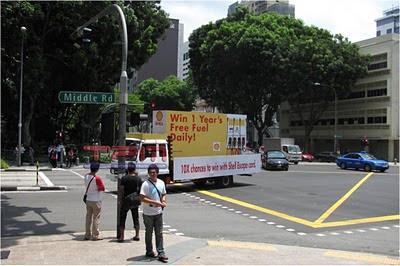 Shell Mobile Billboard Creative Outdoor Advertising Apr 2010 Bugis