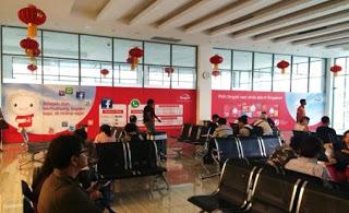 Singtel targeting Tourists to Singapore at HarbourBay Ferry Terminal 2016 Jan 16