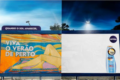 Sunscreen Ad Revealed Only When the Sun Comes Out Emma Hutchings