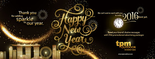 TPM Outdoor New Year 2016 Greetings - Thank you for adding SPARKLES