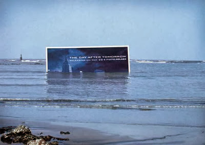 The day after tomorrow half submerge Indai Mumbai Billboard