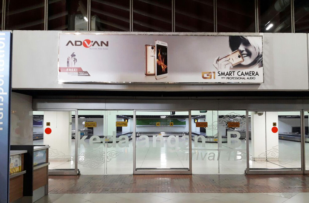 Advan Jakarta Airport Advertising with TPM Outdoor