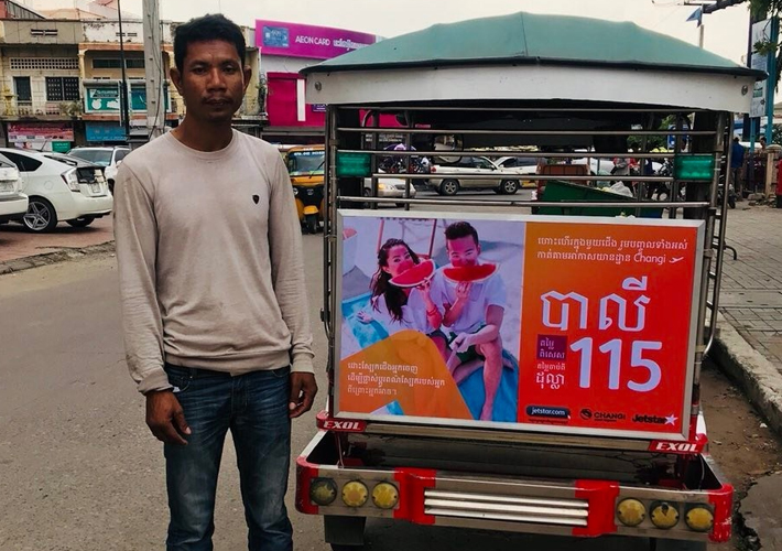 Jetstar-Campaign-at-Cambodia-with-Creative-Outdoor-Advertising