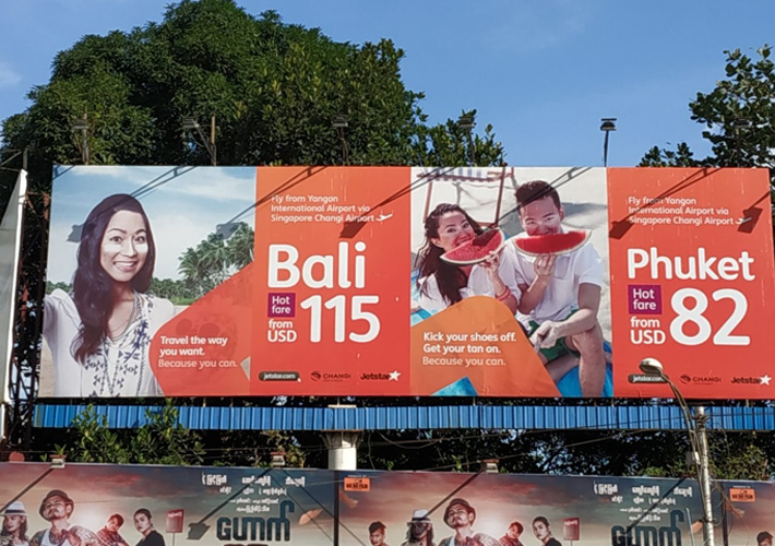Jetstar-Campaign-at-Myanmar-with-Creative-Outdoor-Advertising-3