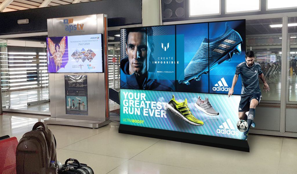 The I-screen Creative Collection 4 video wall in Indonesia