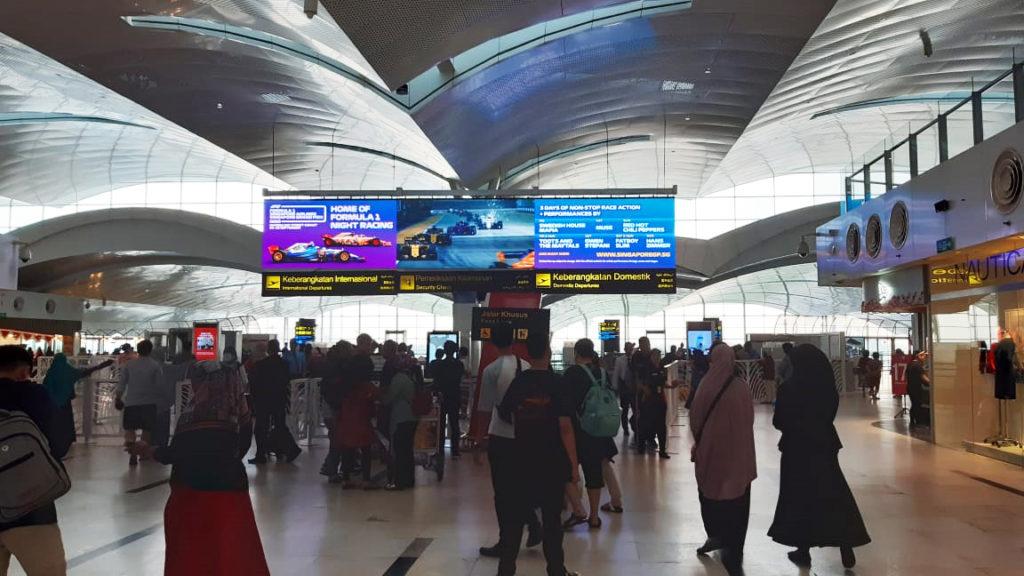 Formula 1 on TPM Digital Screen at Kualanamu International Airport Medan